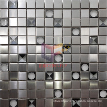 Crystal Inlaid Stainless Steel Mosaic (CFM1011)