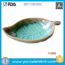 Fallen Leaf Shape Soap Dish Ceramic Cheap Soap Holder