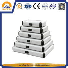 Tamanho diferente profissional alumínio redonda caso HEC-0003