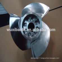 cnc machining stainless steel 17-4PH Blade for sailing , cnc turning stainless steel parts service