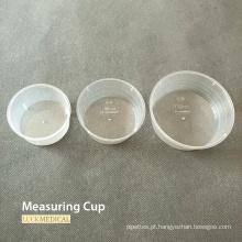 Copo medidor de plástico descartável de grau médico