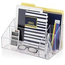 Factory Premium Quality Office Accessories Desktop Storage Caddy Divider Acrylic Desk Organizer Set