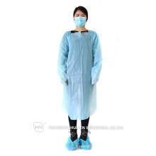 Einweg-Schutz-CPE-Kleid Medizinische Operation Kleid