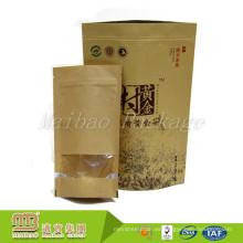El fabricante de China modificado para requisitos particulares levántese el Paperbag de empaquetado plástico de la comida secada con la ventana