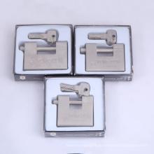 Gehärtetes solides Stahl rechteckiges Vorhängeschloss mit 4 Computerschlüssel