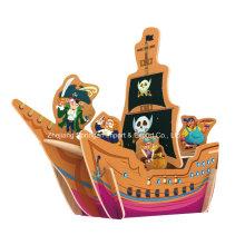 Brinquedo de madeira para brinquedos DIY Casas-navio pirata
