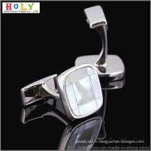 Boutons de manchettes VAGULA laiton métal personnalisé (Hlk31469)