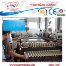 CER genehmigte pvc gewelltes Dach, das Maschine herstellt