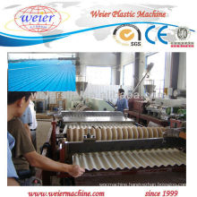CE approved pvc Corrugated roof making machine