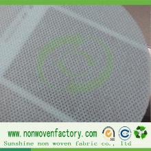 Feuille non tissée de polypropylène couleur verte