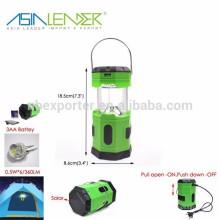 Productos de Líder de Asia 5.5V 50mAH 6 LED Solar Lanterna de Campamento Emergente