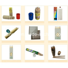 Wooden Pencil in Round Paper Tube Packing