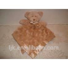 Personalizado de peluche de juguete personalizado de peluche osos en forma de felpa manta