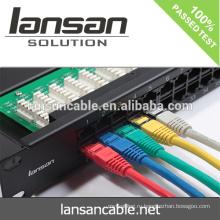 Заводская цена Cat6 Патч-корд сетевой кабель, 0,5 м, 1 м, 3 м, 5 м, 10 м