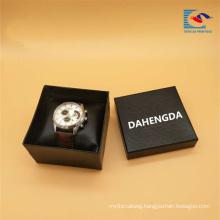 Free sample custom logo Black Cardboard Paper Watch Packing Gift Box