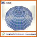 Parapluie de 25 po à carreaux avec 12 panneaux (parapluie 12K)
