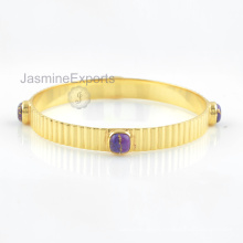 925 Silver Bangles, 18k Gold Copper Purple Turquoise Gemstone Bangle Jewelry For Women