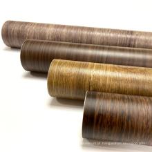 Película de grão de madeira decorativa de PVC de laminação de alta qualidade