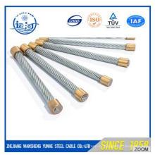 Hilo de alambre de acero galvanizado 7 / 2.0-6.0mm