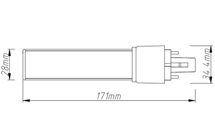 PL-18-10W 10w led tube light size