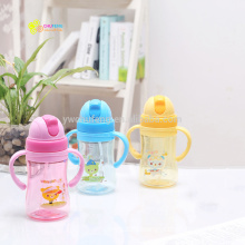 Cute Plastic Water Bottle for Kids Children Drinking Cups Bottle With Straw