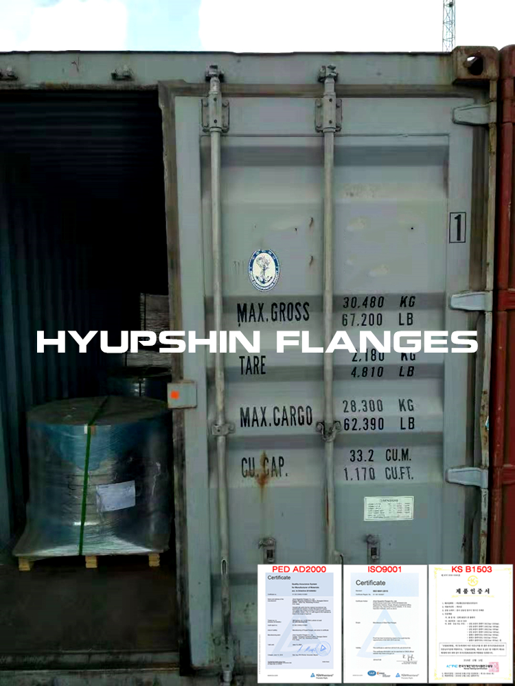 Hyupshin Flanges Shipping Sea Transport