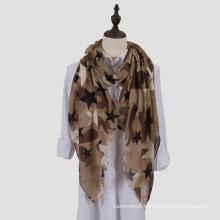 Womens Lightweight Camouflage Starred Fashion Print Shawl Wrap Scarf (SW100)