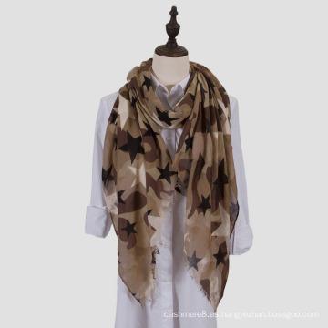 Pañuelo ligero del abrigo del mantón de la impresión de la manera del camuflaje de las mujeres (SW100)