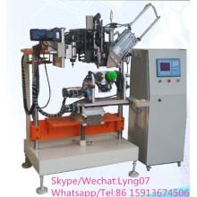 Máquina de perfuração e tufting de alta velocidade automática da escova do toalete da linha central do CNC