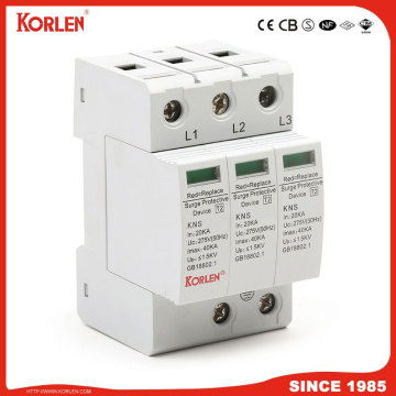Lightning Surge Arrester 40ka Surge Protection Device 3p