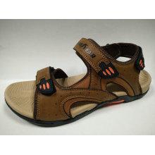 Sandálias de couro ao ar livre ao ar livre do verão para homens