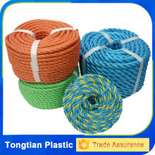 3 strand plastic twisted rope , pe 10mm nylon rope ,poly danline ropes