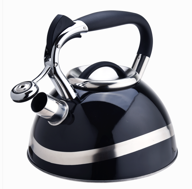 Black Color Teapot Whistling Kettle 413