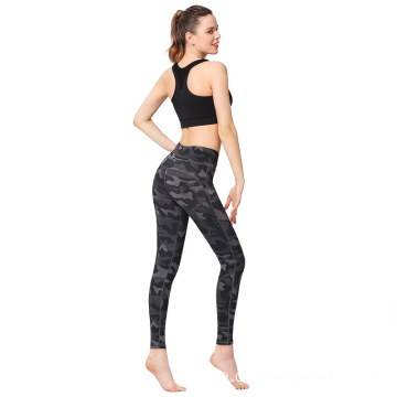 Camo Leggings Grau schwarze Camo Workout Leggings