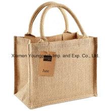 Cheap Promotional Plain Mini Jute Carry Gift Bag