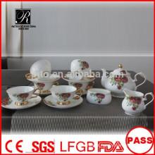 P & T 2015 novo produto chá de china de porcelana conjunto de café festa de casamento