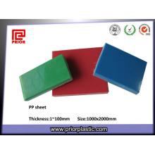 China Folha de plástico PP de venda quente reutilizável