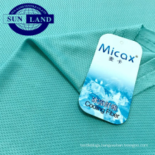 summer shirt cloth weft knit cooling textile materials 100% nylon micax mesh fabric