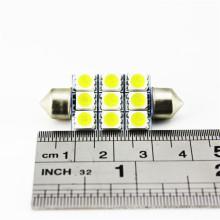 Lámpara de lectura automática de la puerta 12V 39MM Festoon 5050 9pcs luces interiores llevadas del coche de SMD