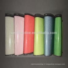 Tissu réfléchissant en nylon multicolore dans le tissu réfléchissant soleil foncé et argenté