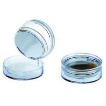 Caso único redondo cosméticos pó compacto