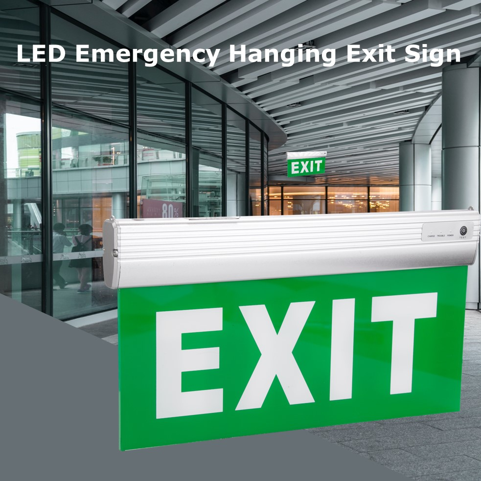 exit light with battery powered