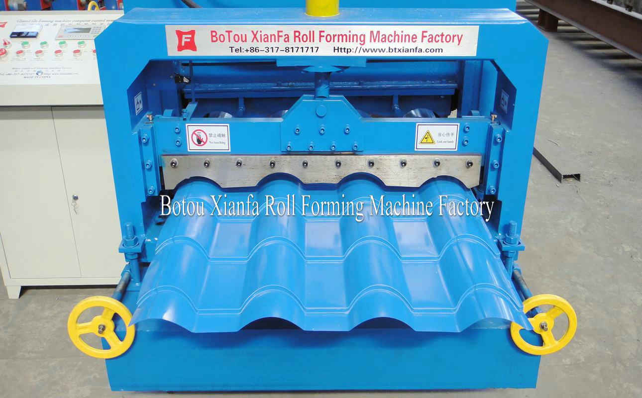bamboo glazed roof tile machine