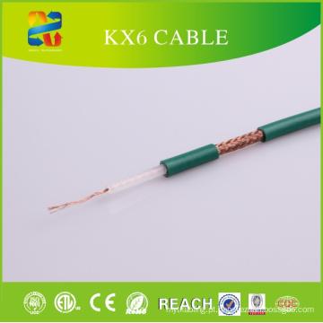 Cabo coaxial do fabricante Kx6 do cabo de Linan com o certificado de CE / ETL / RoHS