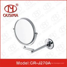 Одностороннее настенное круглое косметическое зеркало