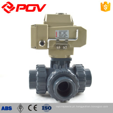 high quality made in China union type 3 way motorized ball valve upvc plastic