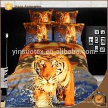 """La impresión 100% del tigre del algodón 3D de la nueva llegada """"y las hojas de cama de la impresión animal / el lecho fijaron / la venta al por mayor de la cubierta del duvet"""