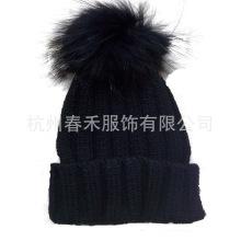 New Style Women Knitted Wool Hat / Crochet Hat with Fur POM Poms / Knitted Beanie Hat with Fur POM POM
