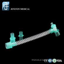tubo liso com conector giratório duplo