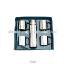 2015 hot seller stainless steel vacuum water flask with carry strap 500ml +4*300ml
